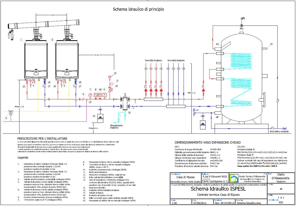 Impianto elettrico casa schema interesting impianto - Impianto gas casa ...